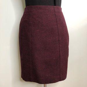 Banana Republic Deep Purple/Black Pencil Skirt